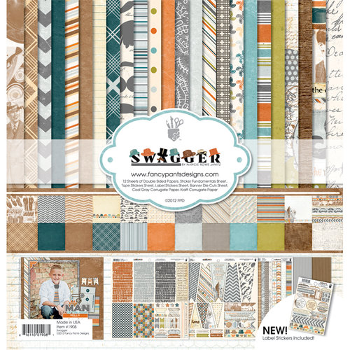 Fancy Pants Designs - Swagger Collection - 12 x 12 Paper Kit