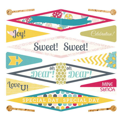 Fancy Pants Designs - Wonderful Day Collection - Pennants