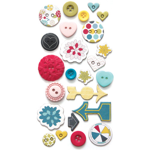Fancy Pants Designs - Wonderful Day Collection - Button Set