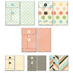 Fancy Pants Designs - Memories Captured Collection - Patterned Envelopes