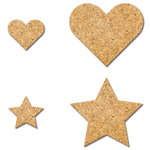 Fancy Pants Designs - Wonderful Day Collection - Cork Shapes - Heart and Stars