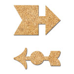 Fancy Pants Designs - Wonderful Day Collection - Cork Shapes - 2 Arrows
