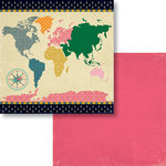 Fancy Pants Designs - As You Wish Collection - 12 x 12 Double Sided Paper - World Travels