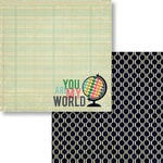 Fancy Pants Designs - As You Wish Collection - 12 x 12 Double Sided Paper - My World