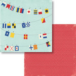 Fancy Pants Designs - Nautical Collection - 12 x 12 Double Sided Paper - Nautical Alpha