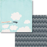 Fancy Pants Designs - Nautical Collection - 12 x 12 Double Sided Paper - In the Clouds
