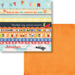 Fancy Pants Designs - Nautical Collection - 12 x 12 Double Sided Paper - Strips