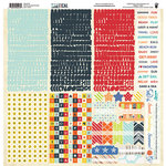 Fancy Pants Designs - Nautical Collection - 12 x 12 Cardstock Stickers - Fundamentals