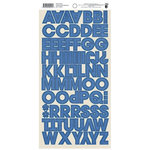 Fancy Pants Designs - Nautical Collection - Cardstock Stickers - Alphabet - Royal Blue