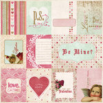 Fancy Pants Designs - Vintage Valentine Collection - 12 x 12 Kraft Paper - Valentine Cards , CLEARANCE