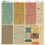 Fancy Pants Designs - Burlap and Bouquets Collection - 12 x 12 Cardstock Stickers - Fundamentals