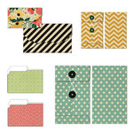 Fancy Pants Designs - Burlap and Bouquets Collection - Patterned Envelopes and Folders