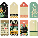 Fancy Pants Designs - Burlap and Bouquets Collection - Decorative Tags - Small