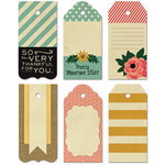 Fancy Pants Designs - Burlap and Bouquets Collection - Decorative Tags - Large