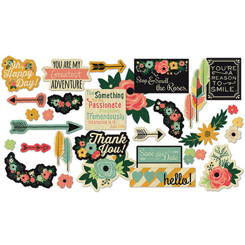 Fancy Pants Designs - Burlap and Bouquets Collection - Ephemera Pack