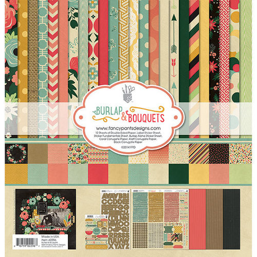 Fancy Pants Designs - Burlap and Bouquets Collection - 12 x 12 Collection Kit
