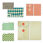 Fancy Pants Designs - Everyday Circus Collection - Patterned Envelopes and Folders