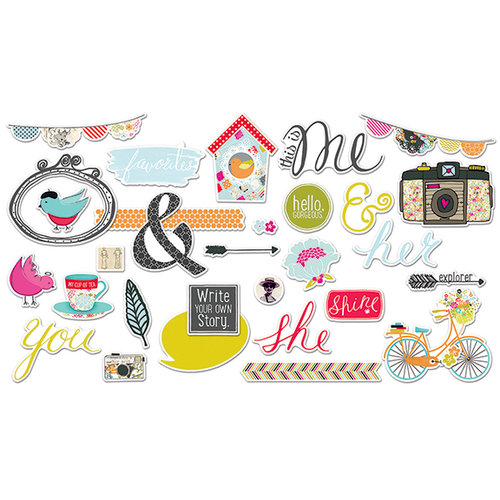 Fancy Pants Designs - Me-ology Collection - Ephemera Pack