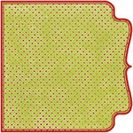 Fancy Pants Designs - Frosted Collection - Christmas - 12 x 12 Die Cut Paper - Red and Green Half Bracket , CLEARANCE