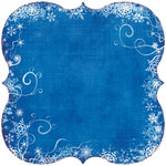 Fancy Pants Designs - Frosted Collection - Christmas - 12 x 12 Die Cut Paper - Bracket Blue Snow , BRAND NEW