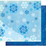 Fancy Pants Designs - Frosted Collection - Christmas - 12 x 12 Double Sided Paper - Hill of Snow, CLEARANCE