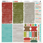 Fancy Pants Designs - Oh, Deer Collection - Christmas - 12 x 12 Cardstock Stickers - Fundamentals