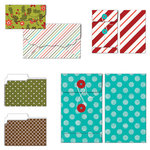 Fancy Pants Designs - Oh, Deer Collection - Christmas - Patterned Envelopes and Folders