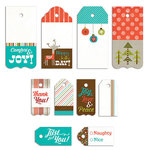 Fancy Pants Designs - Oh, Deer Collection - Christmas - Decorative Tag Set