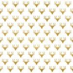 Fancy Pants Designs - Office Suite Collection - 12 x 12 Paper with Foil Accents - Gold Deer