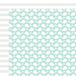 Fancy Pants Designs - Summer Sun Collection - 12 x 12 Double Sided Paper - Whales