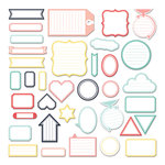 Fancy Pants Designs - Happy Place Collection - Labels Pack