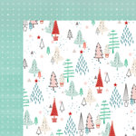 Fancy Pants Designs - Wish Season Collection - Christmas - 12 x 12 Double Sided Paper - Whimsical Forest