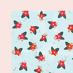 Fancy Pants Designs - Wish Season Collection - Christmas - 12 x 12 Double Sided Paper - Poinsettia