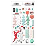 Fancy Pants Designs - Wish Season Collection - Christmas - Puffy Stickers - Mixed Shapes