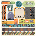 Fancy Pants Designs - Trick or Treat Collection - Halloween - 12 x 12 Cardstock Stickers