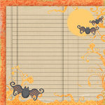 Fancy Pants Designs - Trick or Treat Collection - Halloween - 12 x 12 Double Sided Paper - Flying Bats