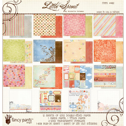Fancy Pants Designs - Little Sprout Collection - 12 x 12 Paper Kit