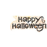 Fancy Pants Designs - Trick or Treat Collection - Halloween - Glitter Cuts Transparencies - Halloween Title, CLEARANCE