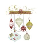 Fancy Pants Designs - Christmas Magic Collection - Glitter Cuts Tranparencies - Hanging Ornaments