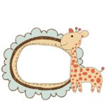 Fancy Pants Designs - Little Sprout Collection - Glitter Cuts Transparencies - Giraffe Frame