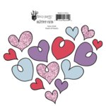 Fancy Pants Designs - Dancing Girl Collection - Glitter Cuts Transparencies - Heart of Hearts , CLEARANCE