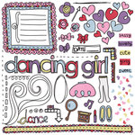 Fancy Pants Designs - Dancing Girl Collection - Rub Ons, CLEARANCE