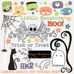 Fancy Pants Designs - Trick or Treat Collection - Halloween - Rub Ons, CLEARANCE