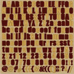 Fancy Pants Designs - That Boy Collection - 12 x 12 Alphabet Cardstock Stickers - Red and Gold