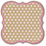 Fancy Pants Designs - This Girl Collection - 12 x 12 Die Cut Paper - Dots Bracket, CLEARANCE