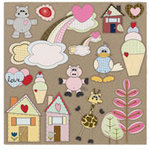 Fancy Pants Designs - Kraft Kuts - 12 x 12 Die Cut Kraft Paper - Kraft Kuts 1, CLEARANCE