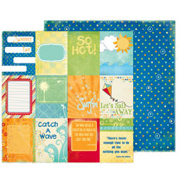 Fancy Pants Designs - Summer Soiree Collection - 12 x 12 Double Sided Paper - Cards