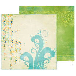 Fancy Pants Designs - Summer Soiree Collection - 12 x 12 Double Sided Paper - Wave