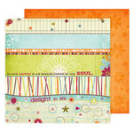 Fancy Pants Designs - Delight Collection - 12 x 12 Double Sided Paper - Delight Strips