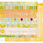 Fancy Pants Designs - On A Whimsy Collection - 12 x 12 Double Sided Paper - On A Whimsy Strips